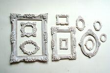Vintage Photo Frames Set of 11 Gothic Mini White Frame Decorative Round Square