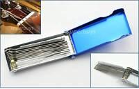 14pc Guitar Round Filing Slotting Nut Slot Bridge Flat Rod File Luthier Set Tool