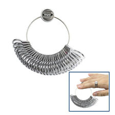 METAL FINGER GAUGE RING JEWELRY SIZER TOOL USA 1 - 15 By 1/2 SIZES, 36 PCS