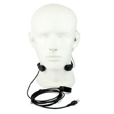 Midland Adjustable Throat Microphone with Acoustic Tube Finger PTT Earpieces hot