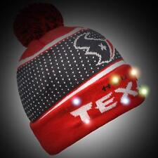 571d338bf5c Houston Texans Big Logo Light up Beanie 2018 Style NFL Winter Cap Hat