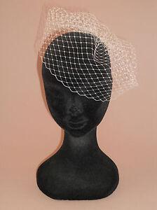 """Mini Birdcage Veil (7""""). Handmade in UK. Ivory, White or Black. French Net."""