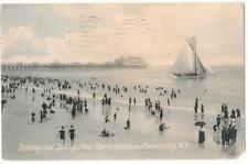 Atlantic City NJ Bathing, Sailing, Steel Pier 1909 Divided Back Post Card