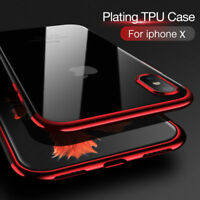 Pr Apple iPhone X 8 7 PLUS Coque étui Housse Silicone Clear Case Cover + Flim