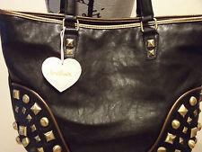 IMOSIAN BLACK DOUBLE HANDLED TOTE BAG