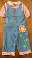Unworn vintage 80's Catton Bros. Cotton Candy overall jumper sun flower girls