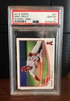 2013 Topps Mini Mike Trout Sliding Angels Baseball Card #27 PSA 10 Gem Mint