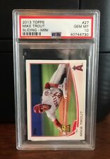 2013 Topps Mini Mike Trout Sliding Angels Baseball Card #27 PSA 10 Gem Mint