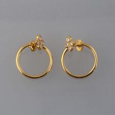 Cartier 18ct Yellow Gold Hindu Diamond Earrings