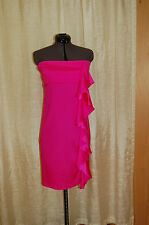 Josh Brody Silk Pink Strapless Dress Size L