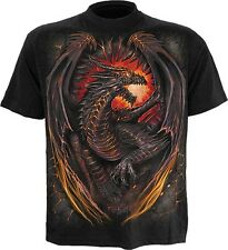 Spiral Dragon Furnace Drachen T Shirt Tee Top Feuer Fire Gothic Dark #3221 246