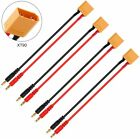 4x XT90 Plug Charging Cable to 4.0mm Banana Connector 14AWG for RC Lipo Battery