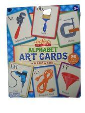 "eeboo Alphabet Art Cards Hardware 26 Cards 7"" x 9"" Wall Decor Nursery Homeschool"