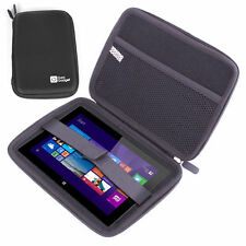 Black Protective Zip Case with Netted Pocket for Linx 7 Inch Windows 8.1 Tablet