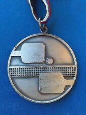 Table Tennis 15. Balkans champion 1978 NIŠ Serbia vintage plaque medal , rarre !