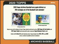 2020 Topps Archives Baseball Retail Blaster Box Preorder Ships August