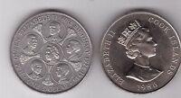 COOK ISLANDS - 1$ UNC COIN 1986 YEAR KM#31 60th ANNI BIRTH OF QUEEN ELIZABETH II