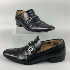 GUCCI Men's Black Leather Shoes 256345 Made in Italy Size 9.5 -  For Renovation