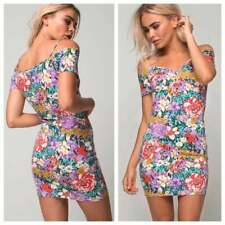 9179754f2bfb Urban Outfitters Motel 90s Vintage Floral Bodycon Mini Dress Sexy BNWT  Womans XS