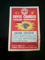 3 X Vintage Firecracker Pack labels  red lantern all 3 Pieces are ORIGINAL