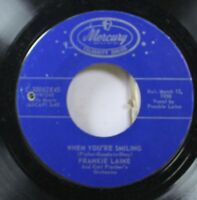 Pop Nm! 45 Frankie Laine And Carl Fischer'S Orchestra - When You'Re Smiling / Al