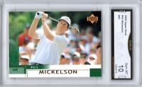 "GMA 10 Gem Mint PHIL MICKELSON 2002 UPPER DECK ""Lefty"" ROOKIE Card!"