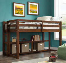 Better Homes Loft Storage Bunk Bed Spacious Shelves Twin Solid Wood Espresso