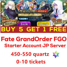Buy 5 Get 1 Fate Grand Order FGO F/GO Start Account 450-550 quartz japan server