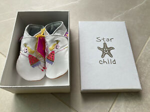 Star Child Baby Girl Pre Walker Leather Shoes- 0-6 Months