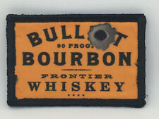 Bullet Bourbon Whiskey Morale Patch Military Tactical Army Flag USA Hook Badge