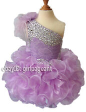 Infant/toddler/baby Lilac Feather Lace Crystals Pageant Gliz Dress 2T G095-4