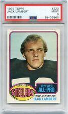 1976 Topps #220 Jack Lambert PSA 9 MINT Hall-of-Fame ROOKIE Steelers GREAT!!!