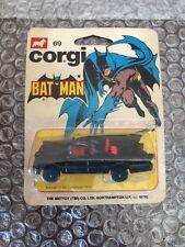 1978 Corgi Junior / Mettoy Co. #69 BATMAN BATMOBILE * MIP * Sealed(black Wheels)