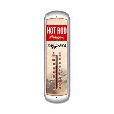 Hot Rod Magazine 60th Anniversary Thermometer Blech Blechschild Blechthermometer