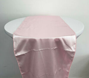 PINK SATIN TABLE RUNNER VINTAGE WEDDING VENUE DECOR PARTY TABLEWARE SETTING HOME