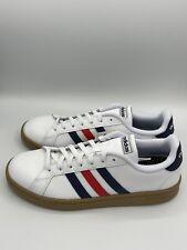 Adidas Grand Court Mens Shoes Sneakers White Blue Red Walking Tennis Comfort NIB