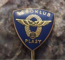 Plasy Aerodrome Airfield Flying Club Aeroklub Members Wings Logo Pin Badge