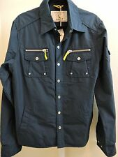 Gant Michael Bastian Exploration Cotton Blend Navy Thin Jacket W/Mesh Lining - L