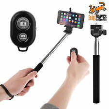 Selfie Stick extendable monopod handheld shutter remote bluetooth iphone samsung