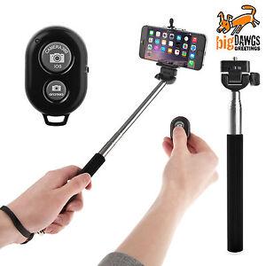 Selfie Stick extendable monopod handheld shutter remote bluetooth iphone samsung