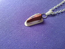 Free form sterling silver and cats eye quartz necklace