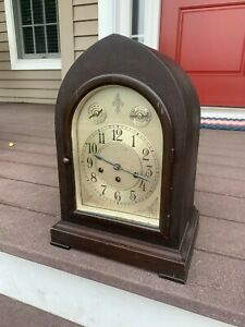 Antique Seth Thomas Bracket Clock Westminster Chime 113A Movement, Not Running