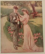 """Artist Proof W T Smedley The Early Morning Train 20"""" x 14"""" matted Colliers 1906"""