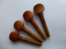 VIOLIN PEGS, BROWN, JUJUBE, FULL SET, FOR 4/4 VIOLIN, WITH INLAY, NICE QUALITY!