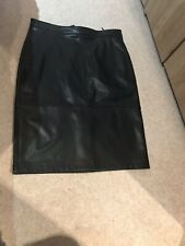 Mint Velvet Leather Look Midi Skirt. 16. Bnwt.