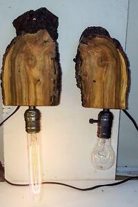 Pair Rustic Handmade bedside wall lamp from Artfreek Australia one off creations