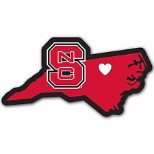 North Carolina State Wolfpack Home State Auto Car Window Vinyl Decal Sticker