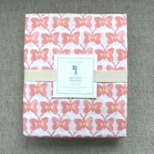 Pottery Barn Kids Butterfly Papillon Twin sheet set white, Coral, Pink,  yellow