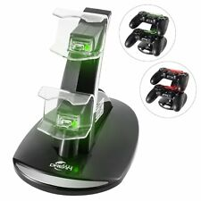 Megadream DualShock 4 Dual USB Charging Charger Docking Station Stand for Sony