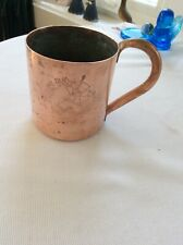 vintage  Solid Copper MUG Vodka Boatman, Moscow Mule,